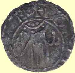 Voorzijde munt van Adela (bron: Eddie Klunder).