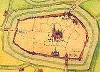 Lochem en omgeving in 1560 op een kaart van Jacob van Deventer.