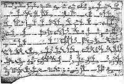 Oorkonde uit 1233 waarin Lochem stadsrechten wordt verleend.