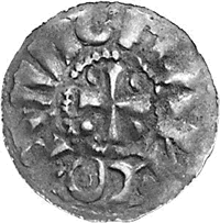 Achterzijde munt Wichman III van Vreden (bron: Eddie Klunder).