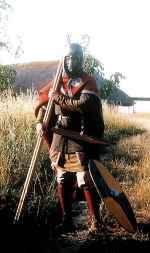 Soldaat in de 8ste eeuw.