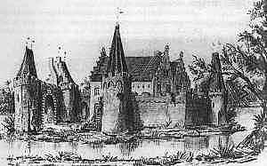 Gravure van Nicolaas van Geelkercken uit ca. 1600.