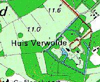 Topografische kaart van Verwolde.