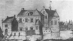 Anonieme tekening van Bevervoorde uit 1626.