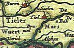 Fragment van de kaart van Jansonius, 1654.