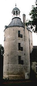 De 15de eeuwse donjon van huis Wisch anno 1999.