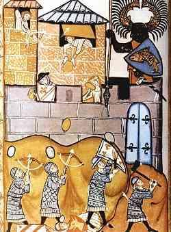 Belegering in de 14de eeuw.