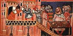 Plunderen in de 13de eeuw.