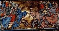 Riddergevecht in de 14de eeuw.