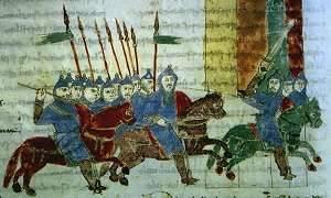 Ridders uit een oorkonde uit 1028.