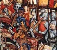 Detail uit toernooi uit de 15de eeuw.