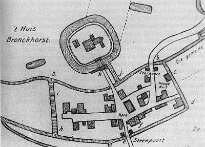 Oude kaart van Bronkhorst.