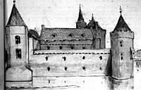 Vermoedelijk kasteel Brederode (tekening Craandijk).