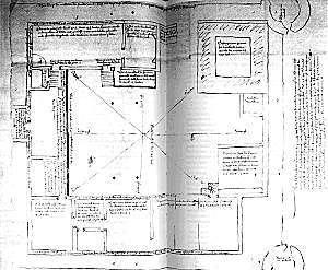 Plattegrond van kasteel Bredevoort in 1562.