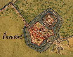 Bredevoort in 1560 door Jacob van Deventer.