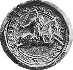 Klik hier om grotere versie van het zegel van graaf Reinald I te zien (41 KB, 300 dpi).