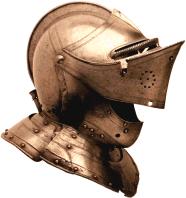Gesloten helm uit 1530.