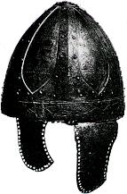 Spangenhelm uit de 6de eeuw.