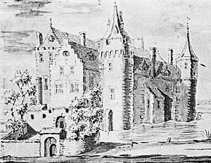 Kasteel Baer in 1404 door W. Angerlo (18de eeuw).