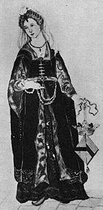 Elisabeth van Baer (18de eeuwse tekening).
