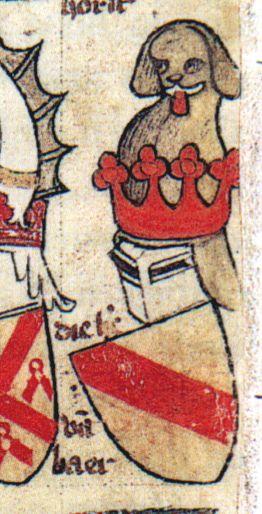 Wapen van de heren van Baer (Codex Gelre folio 88v).