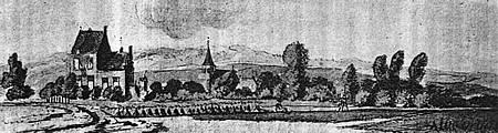 Lathum, inclusief dorp, in de 18de eeuw.