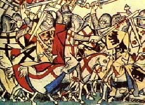 Heinrich VII strijdt tegen de Welfen in Rome.