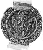 Zegel van Reinald III. Klik voor een grotere afbeelding (300dpi, 44 KB).