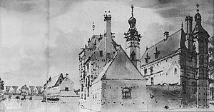 Achterzijde kasteel Keppel, anno 1743 (Jan de Beyer).