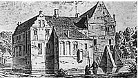 Kasteel Rhaan in 1732 (C. Pronk).