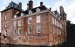IJsselvleugel en achterkant kasteel Keppel, anno 2000.