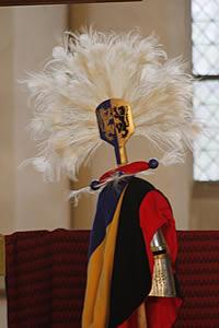 Replica helm van de hertogen van Gelre (Woud der Verwachting) Foto: Peter Woueters.