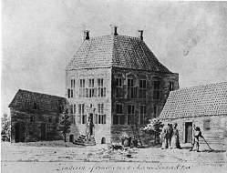 Kasteel Sinderen in Voorst, anno 1785.