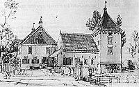 Kasteel Schuilenburg in 1742 (tekening van Jan de Beyer).