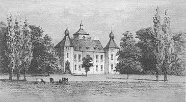 schuilenburg1875Kasteel Schuilenburg tussen 1875 en 1888 (nagetekend van J. Craandijk).
