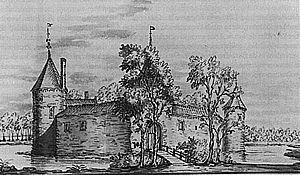 Swanenburg, anno 1720 (tekening Maximiliaan de Raat).