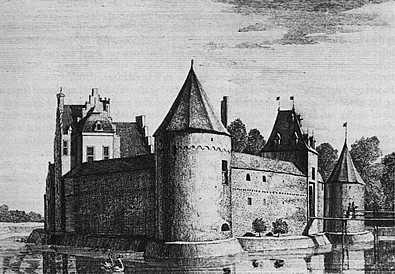 Swanenburg, anno 1731 (tekening A. de Haen).