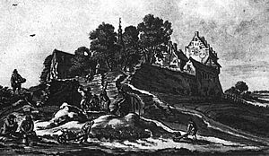 Kasteel Ulft, anno 1743 (tekening De Beijer).