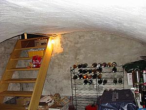 Gewelf onder het huis Ulft, anno 2003.