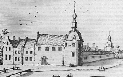 Kasteel Ulft, anno 1717 (tekening Berkhuijs).