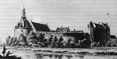 Kasteel Ulft, anno 1750 (tekening Spilman).