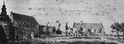 Kasteel Ulft, anno 1737 (tekening De Beijer).