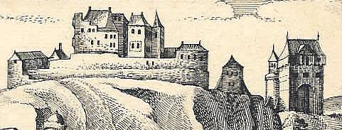 Kasteel Hammerstein in 1630 (Meissner).