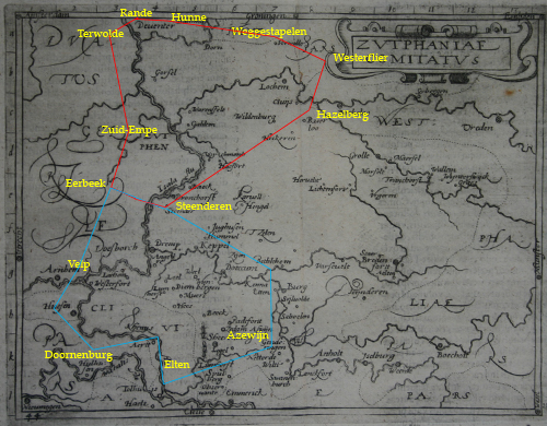 Noord- en Zuid-Hamaland in 1046.