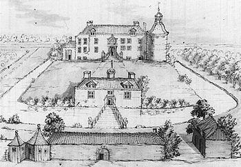 Hackfort, anno 1718 (tekening Frans Berkhuijs).