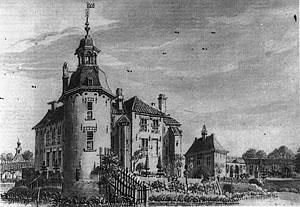 Hackfort, anno 1742 (tekening De Beijer).