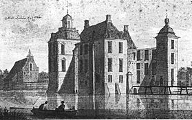 Huis Ruurlo, anno 1732 (tekening C. Pronck).