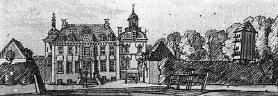 Ruurlo anno 1743 (tekening De Beijer).