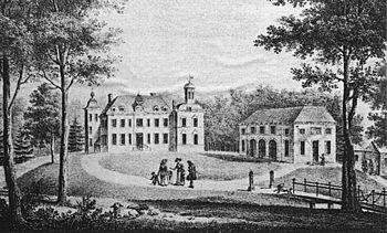 Huis Ruurlo, anno 1800 (anoniem).
