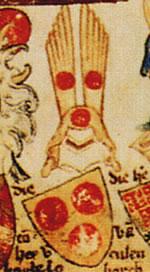 Wapen van Borculo uit de Codex Gelre.